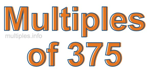 Multiples of 375