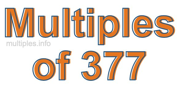 Multiples of 377