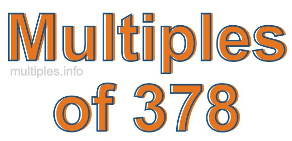 Multiples of 378