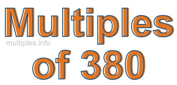 Multiples of 380