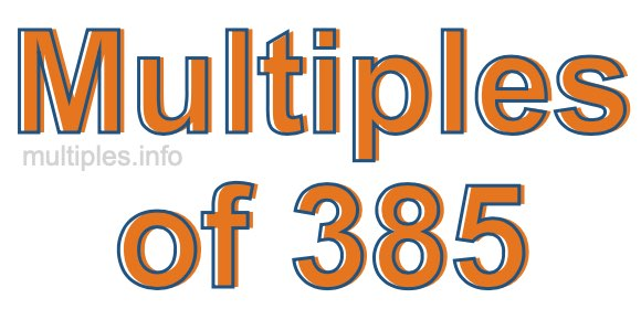 Multiples of 385