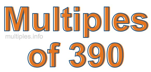 Multiples of 390