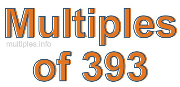 Multiples of 393