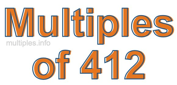 Multiples of 412