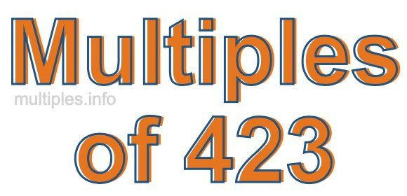 Multiples of 423