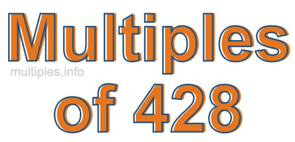 Multiples of 428