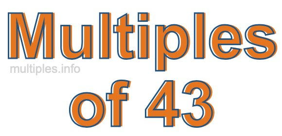 Multiples of 43