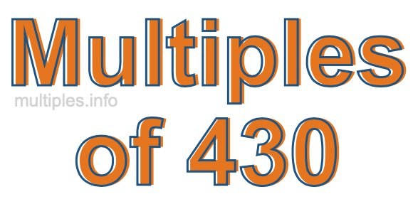 Multiples of 430