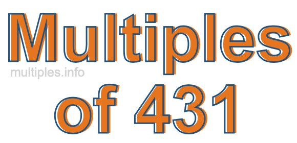 Multiples of 431