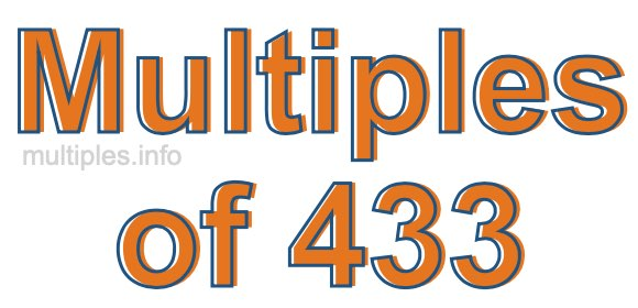 Multiples of 433