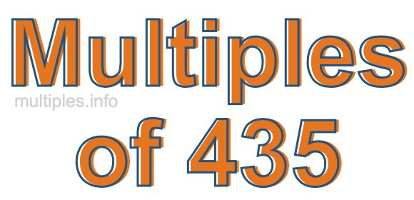 Multiples of 435