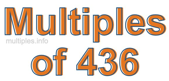 Multiples of 436