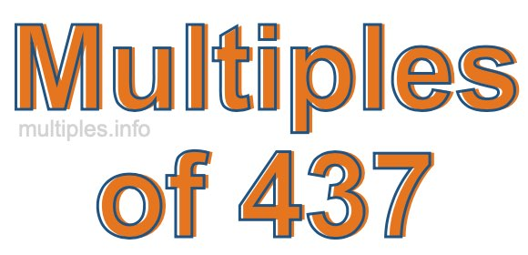 Multiples of 437