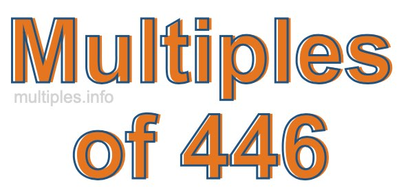 Multiples of 446