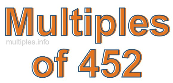 Multiples of 452