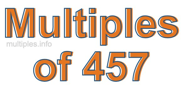 Multiples of 457