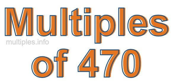 Multiples of 470