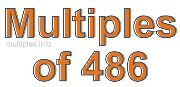 Multiples of 486