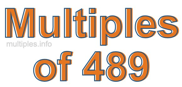Multiples of 489