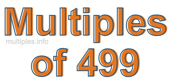 Multiples of 499