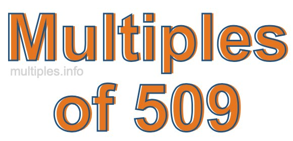 Multiples of 509