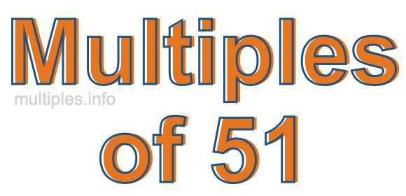 Multiples of 51