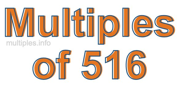 Multiples of 516