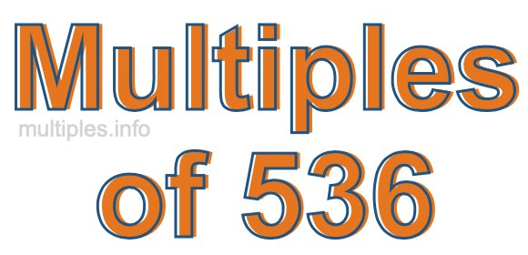 Multiples of 536