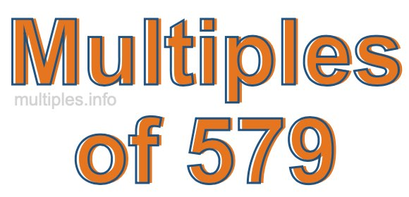 Multiples of 579