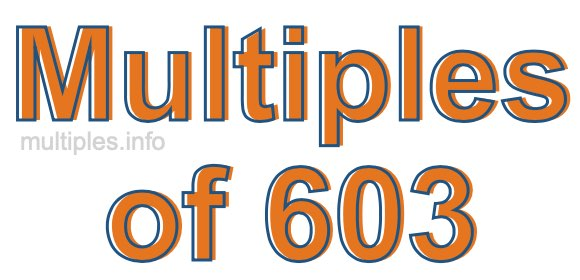 Multiples of 603