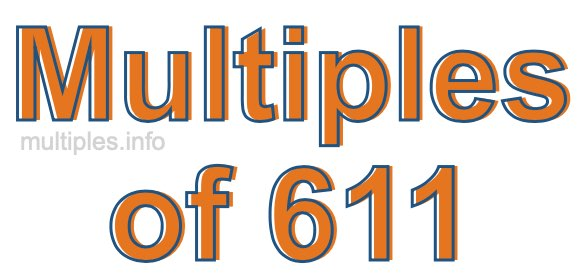 Multiples of 611