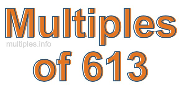 Multiples of 613