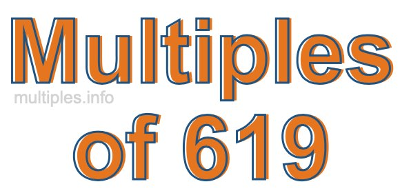 Multiples of 619