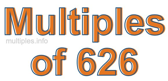 Multiples of 626