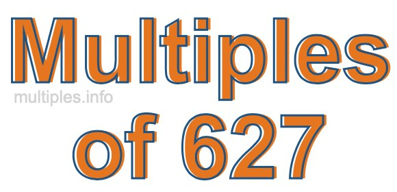 Multiples of 627