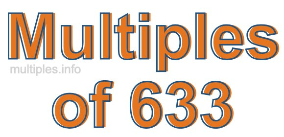 Multiples of 633