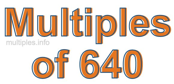 Multiples of 640