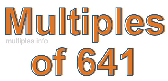 Multiples of 641