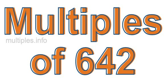 Multiples of 642