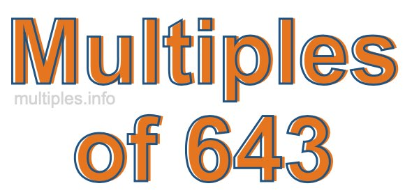 Multiples of 643