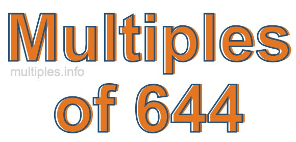 Multiples of 644
