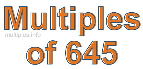 Multiples of 645
