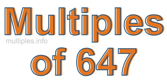 Multiples of 647