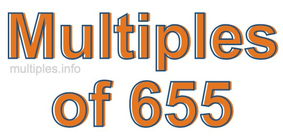 Multiples of 655
