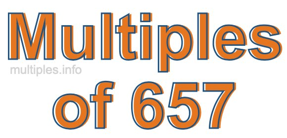 Multiples of 657