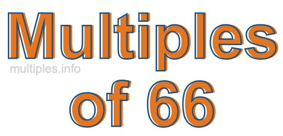 Multiples of 66