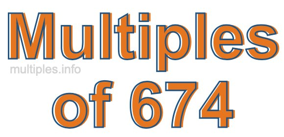 Multiples of 674