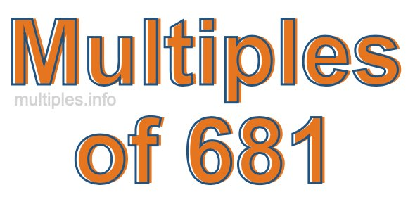 Multiples of 681