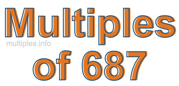 Multiples of 687