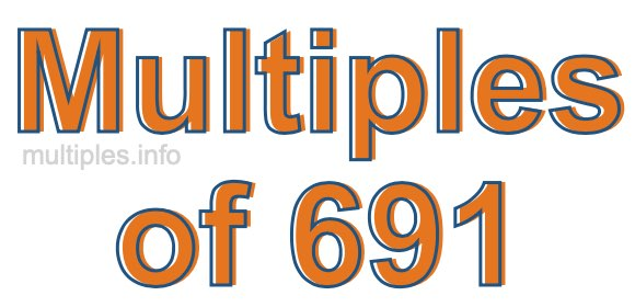 Multiples of 691